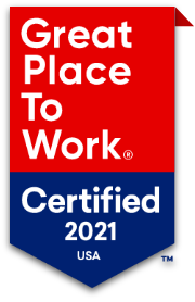 Great Place to Work® Certified 2021 USA